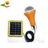 Luz recarregável solar do diodo emissor de luz da atualização com o carregador do carro do USB do carregador dois do carro
