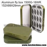 A cor verde 16 Comparments Caixa de moscas de alumínio