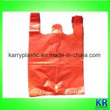 Sacchetti di immondizia di plastica del blocchetto dell'HDPE con il rinforzo laterale