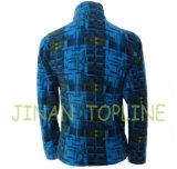 Veste bleue imprimée Microfleece