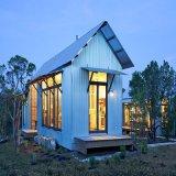 فولاذ خفيفة يصنع منزل مع [بريك ولّ]