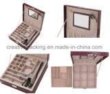 Rectángulo de almacenaje de cuero de la joyería de la PU del estilo exquisito de Fashional