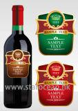 Подгонянные ярлыки бутылки вина
