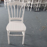 Resina branca Cadeira de Napoleão para casamentos