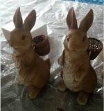 Día de Pascua Conejo polyresin decoración del jardín