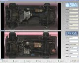 Riga di Digitahi automatica di visione larga esplorazione nell'ambito del sistema di ispezione del veicolo