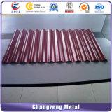 Strato poco costoso rivestito galvanizzato del tetto dello strato del ferro ondulato di prezzi bassi/metallo di colore