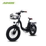 脂肪質のタイヤ浜の電気バイクの自転車Ebikeを折る2017 20inch 48V 500W