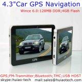 """Billig 4.3 """" bewegliche Sat Nav GPS Navigationsanlage mit ISDB-T Fernsehapparat Bluetooth Handels-im Auto Moto LKW GPS-Nautiker für hintere Ansicht-Parken-Kamera, Geschwindigkeits-Kamera"""