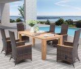 Офиса гостиницы дома Teak патио Polywood сада таблица напольного обедая и стул (J375)