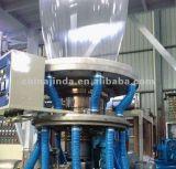Cabeça rotativa película PE conjunto máquina de sopro