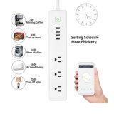 Wireless WiFi Smart Power газа скачков напряжения плюс 3 4 порта USB на выходе из зарядной станции, работает с Amazon Alexa