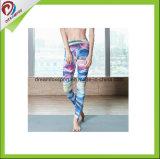 Calças feitas sob encomenda apertadas da ioga das meninas das caneleiras do desgaste da aptidão da impressão do Sublimation