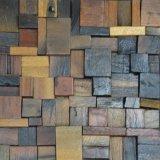 Precio al por mayor de madera maciza natural mosaico para decoración de pared