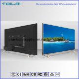 Schmales Anzeigetafel-ultra dünnes 55 Zoll UHD 4K kontrastreiches LED T2 Fernsehapparat-DVB-T