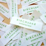 Durável e Chique Barato Etiquetas de tecido impresso