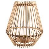 Linterna de huracán contemporánea de bambú, natural