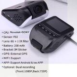 Gravador de vídeo novo de Digitas do carro do veículo de WiFi com a câmera de Sony Imx da visão noturna 5.0mega, carro DVR de FHD1080p, caixa negra do carro de WDR