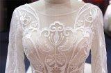 セクシーで長い袖のレースの人魚の花嫁の服の婚礼衣裳