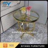 Tabela de chá lateral de vidro da mobília quente do aço inoxidável da venda