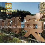 La publicité extérieure en acier inoxydable signe la lettre Lettre 3D
