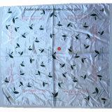 中国の工場OEMの農産物の布を包むカスタムロゴプリントサテンFuroshiki
