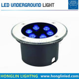 luz subterráneo al aire libre del jardín del suelo de 6W RGB LED