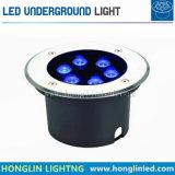 6W RGB LEDの床の屋外の地下の庭ライト