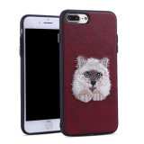 Caja animal del bordado del teléfono móvil para el iPhone 7