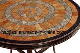 Tabela ao ar livre/do jardim/Patio/Rattan/alumínio de molde com Tabletop de mármore HS6177dt