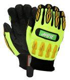 Механическая безопасность Impact-Resistant Anti-Abrasion рабочие перчатки с TPR
