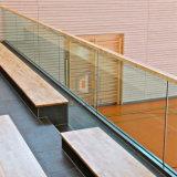 Sistema de pasamano de cristal de la terraza/pasamano decorativo de la mano de la oficina