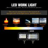 Luz Offroad clara do trabalho do caminhão 72W da barra 5inch ATV 4X4 do diodo emissor de luz dos auto acessórios 8000lm 2row mini