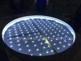 Casella chiara rotonda del tessuto LED