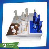 Présentoirs cosmétiques acryliques au détail pour des cas de test
