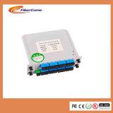 Scのアダプターが付いている1X8カード挿入機構のタイプFTTH光ファイバ視覚PLCのディバイダー