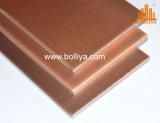 Panneau composé de cuivre superficiel par les agents âgé par moulin initial normal