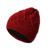 Женщин мужская дрсуга осенью зимой теплый трикотажные витой кабель крышки Beanie экранирующая оплетка Red Hat (HW134)