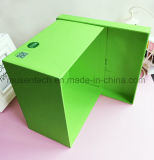 Diseño simple personalizados de papel grande verde Caja de regalo con tapa para Cosmética