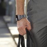 Новая зона для Fitbit 22мм качества трех ссылок из нержавеющей стали серый ремешок для ионных