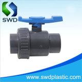 PVC poignée bleue clapet à bille de syndicat unique (DIN, ANSI, BS)
