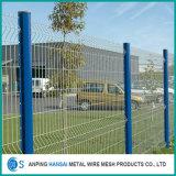 3Dの電流を通され、PVCによって塗られる溶接された金網の塀