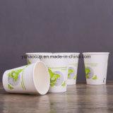 Tazza di carta a parete semplice calda del caffè 12oz con il coperchio