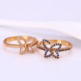 12049 Xuping chapado en oro Mayorista de nuevo diseño de la mujer Fancy anillos de dedo