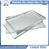 hoja ultra clara del vidrio de flotador de 5m m con la transmitencia el 91%