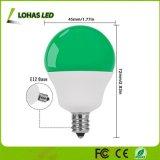 Bulbos minúsculos equivalentes verdes del bulbo E12 5W 40W LED de la luz G14 para la iluminación decorativa