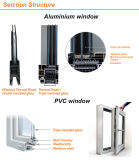 제조 격자는 두 배 유리를 가진 디자인 Windows 알루미늄 PVC를 소유한다