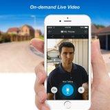 Tintement Bell visuel d'intercom de téléphone de porte d'IP de garantie de Chambre de WiFi sans fil imperméable à l'eau d'appareil-photo