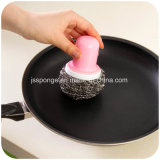 Nettoyage de cuisine en acier inoxydable avec poignée Scourer