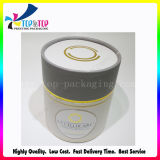 Hot Stamping de oro del cilindro de embalaje Caja de cartón redonda de papel